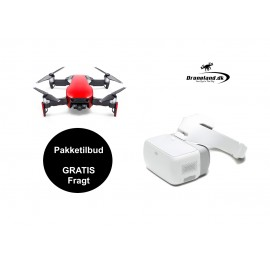 DJI Mavic Air Flame Red (Rød) drone + DJI Goggles FPV briller