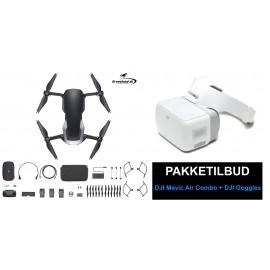 DJI Mavic Air Combo Onyx Black (sort) drone + DJI Goggles FPV briller