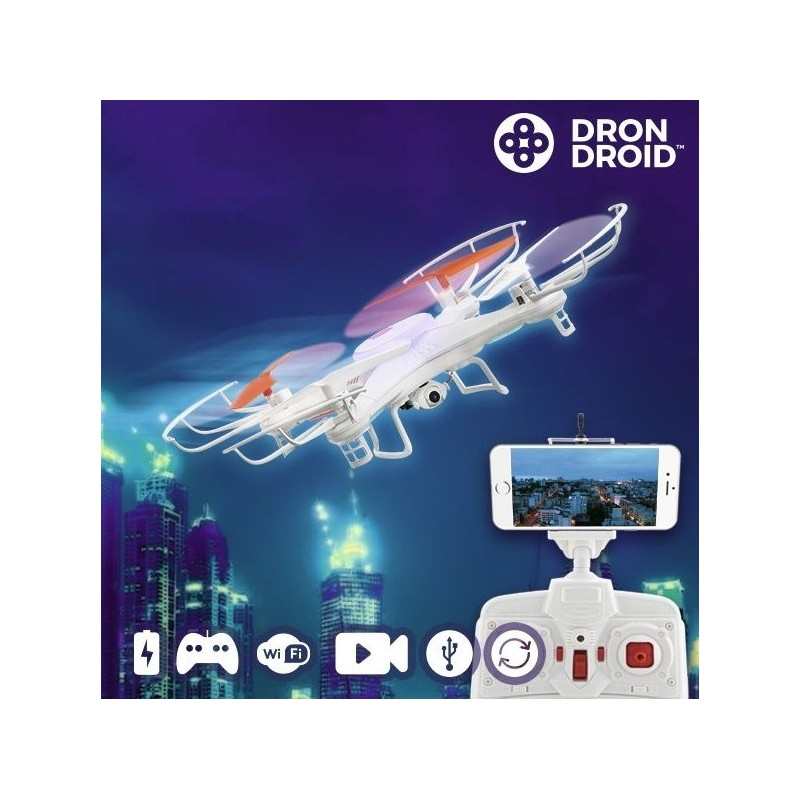 Hanks DronDroid Wi-Fi drone med HD Kamera