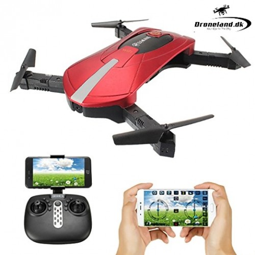 Eachine E52 WiFi FPV - Foldbar selfie drone i rød farve