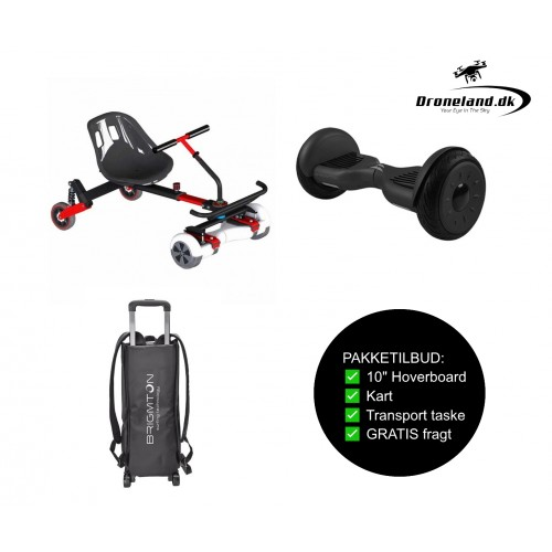 "Package offer: BRIGMTON BBOARD-101 4400 mAp BT 10"" hoverboard + BRIGMTON BKART-360 6,5-10"" Kart + Transport bag"