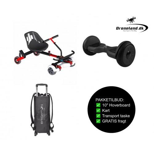 """Package offer: BRIGMTON BBOARD-101 4400 mAp BT 10"""" hoverboard + BRIGMTON BKART-360 6,5-10"""" Kart + Transport bag"""