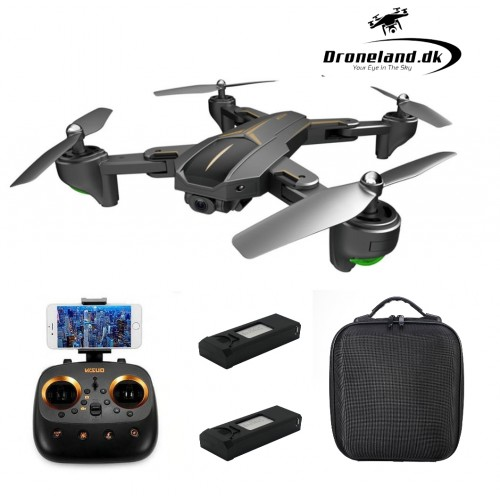 Pakketilbud: VISUO XS812 FPV drone med GPS & 5MP HD kamera + Transport taske + GRATIS ekstra batter