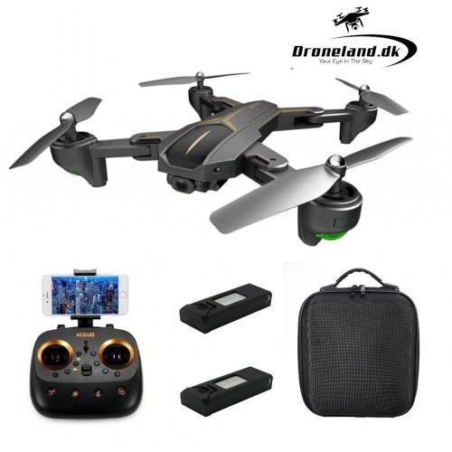 Pakketilbud: VISUO Private Eyes FPV drone med GPS & 5MP HD kamera + Transport taske + GRATIS ekstra batteri