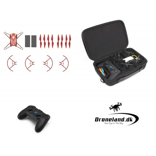 DJI Tello Iron Man Edition Combo Start Pack - mini drone with 5MP HD camera + Extra battery + Controller + Transport bag