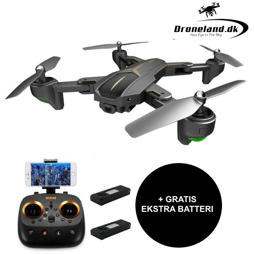 VISUO Private Eyes GPS FPV drone med 5MP HD kamera + GRATIS ekstra batteri