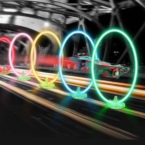 Eachine LED Circles race bane med timer til drone race (5 blandede farver)