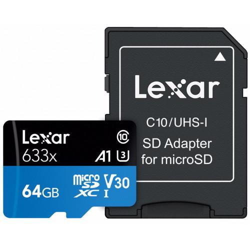 Lexar 633X - 64GB - MicroSDHC/SDXC