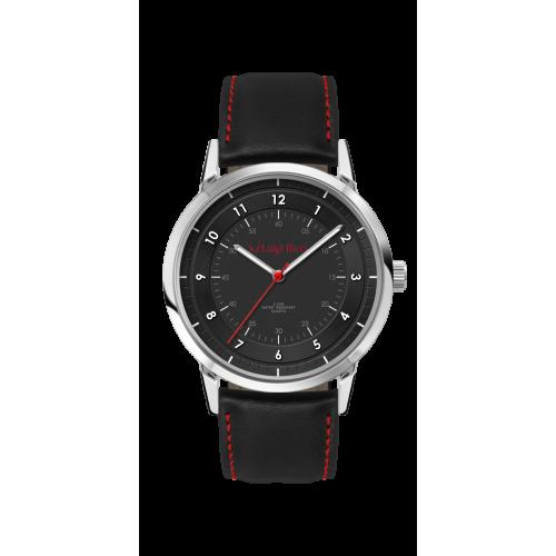 Luigi Ricci Pro Racer GT - Sort / rødt sports ur med læder rem