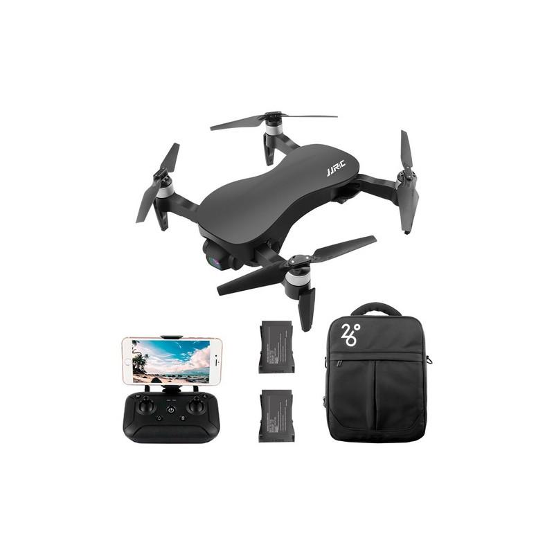JJRC X12 Aurora Startpakke – Foldbar mini drone med 4K/1080P kamera med Zoom + Gratis ekstra batteri + Opbevarings taske