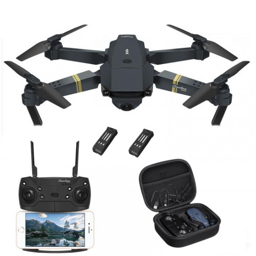 Bundle offer with DroneX Pro Eachine E58 2MP WIFI FPV drone + Trasport Case + FREE Extra battery