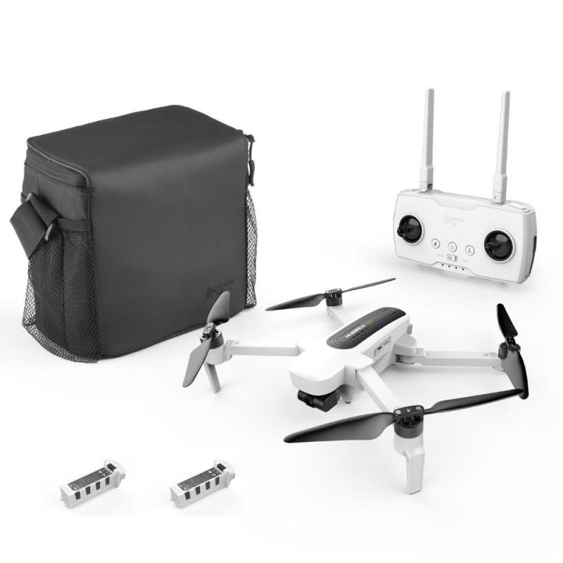 Startpakke med Hubsan Zino drone med 4K UHD kamera + Ekstra batteri + transport taske