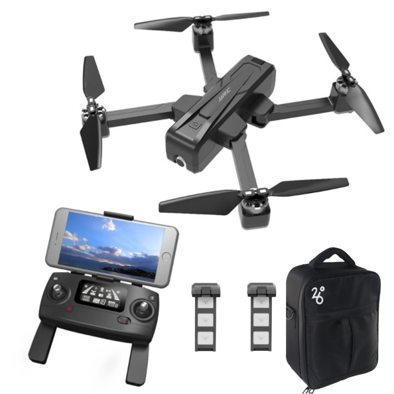 Startpakke med JJRC X11 Pro Scouter – Foldbar GPS drone med 2K kamera + Taske + Ekstra batteri
