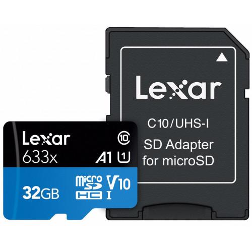 Lexar 633X 32GB (V10) R95/W20 - MicroSDHC/SDXC
