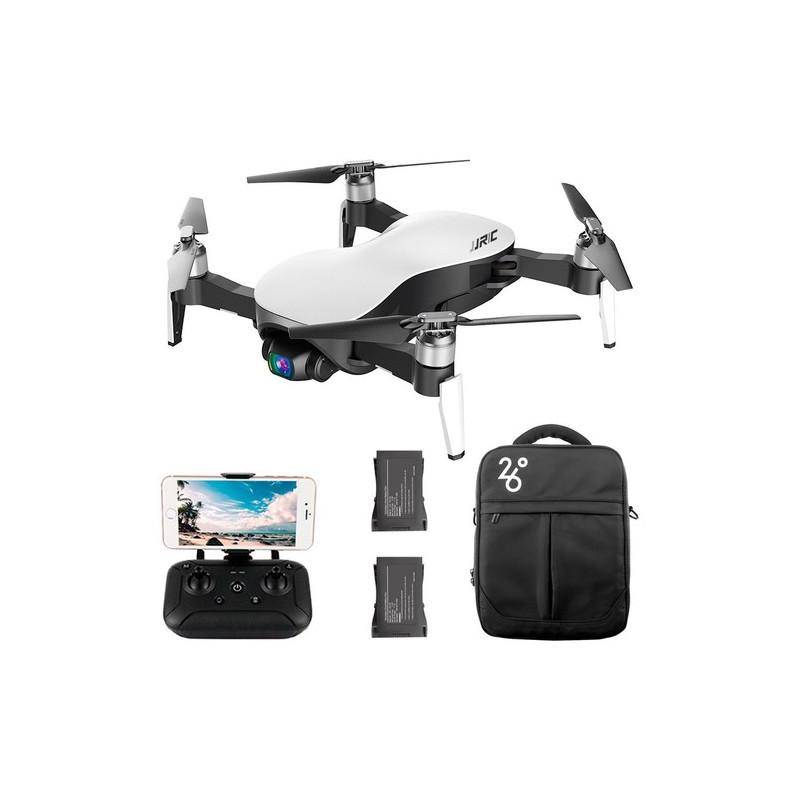 JJRC X12 Aurora Startpakke Hvid – Foldbar mini drone med 4K/1080P kamera med Zoom + Gratis ekstra batteri + Opbevarings taske