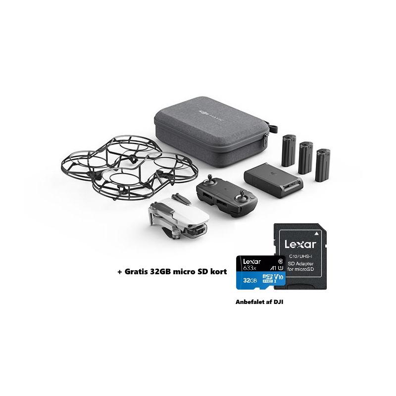 DJI Mavic Mini Combo Startpakke med foldbar mikro drone med 2,7K kamera + GRATIS 32GB Micro SD kort