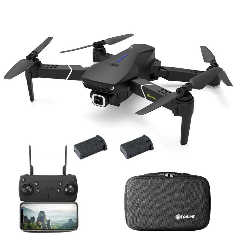 Eachine E520S – FPV GPS mini drone med 4K/1080P kamera og fjernkontrol – Vælg model: – Startpakke (Drone + Ekstra batteri + taske)