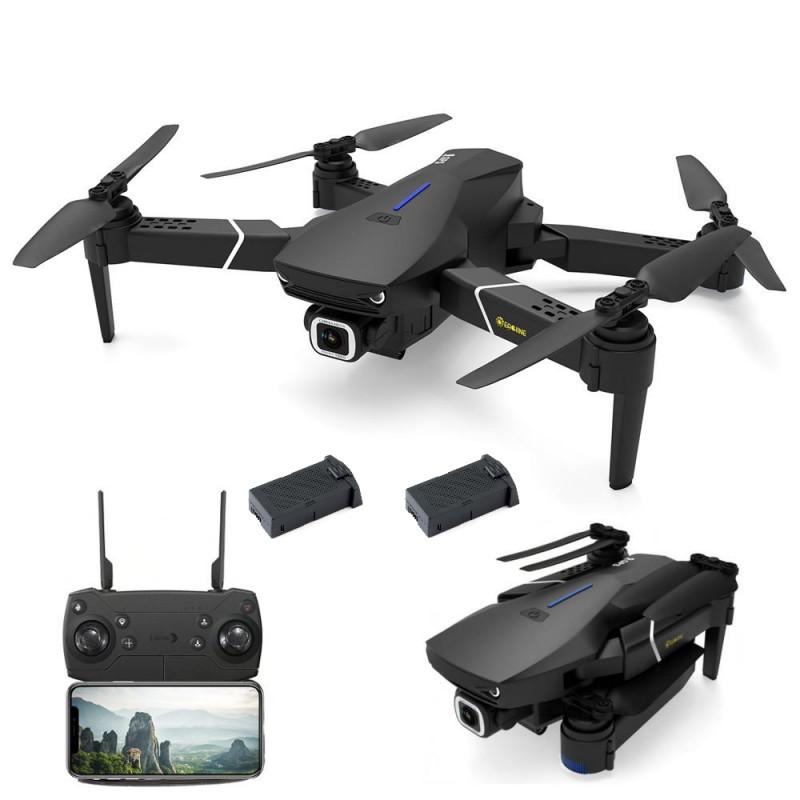 Eachine E520S – FPV GPS mini drone med 4K/1080P kamera og fjernkontrol – Vælg model: – Standardpakke + Ekstra batteri (2 ialt)