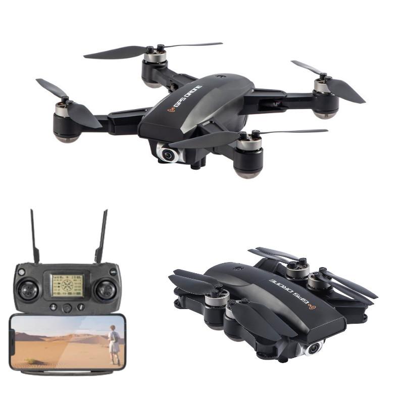 JJRC X16 (6K/1080P) foldbar GPS mini drone med 6K kamera, FPV, børsteløse motorer, follow me + gratis taske – Farvevalg – Sort, Vælg model: –