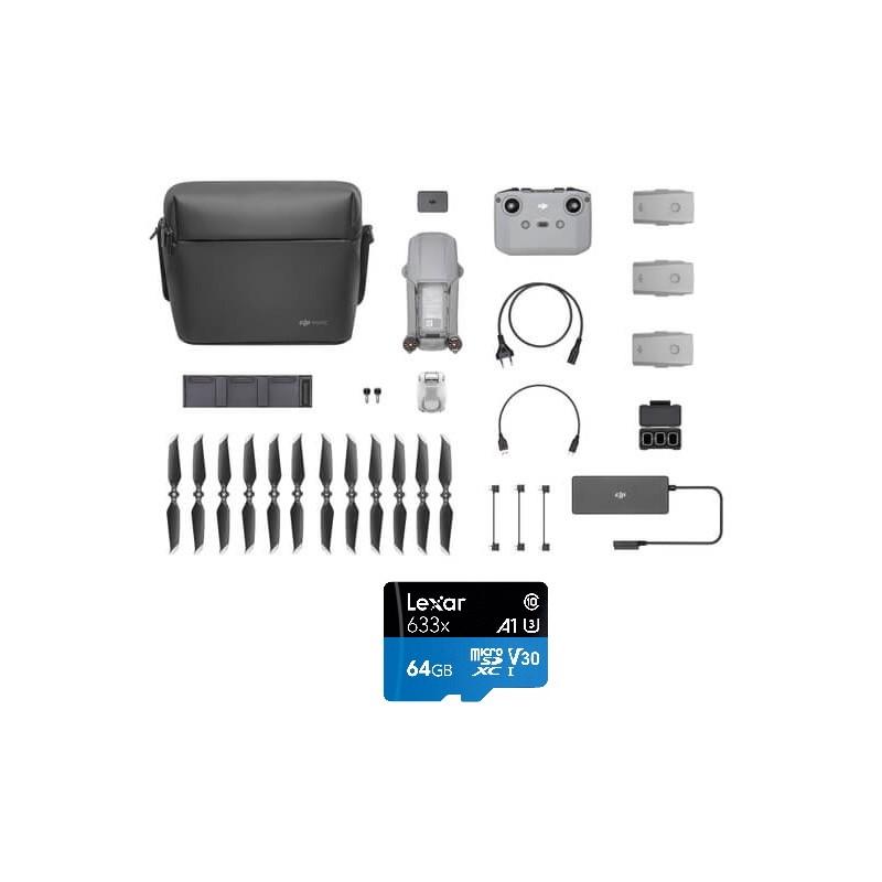 DJI Mavic Air 2 – Drone med 4K kamera + GRATIS 64GB micro SD kort (Class 10) – Vælg model: – Fly More Combo startpakke