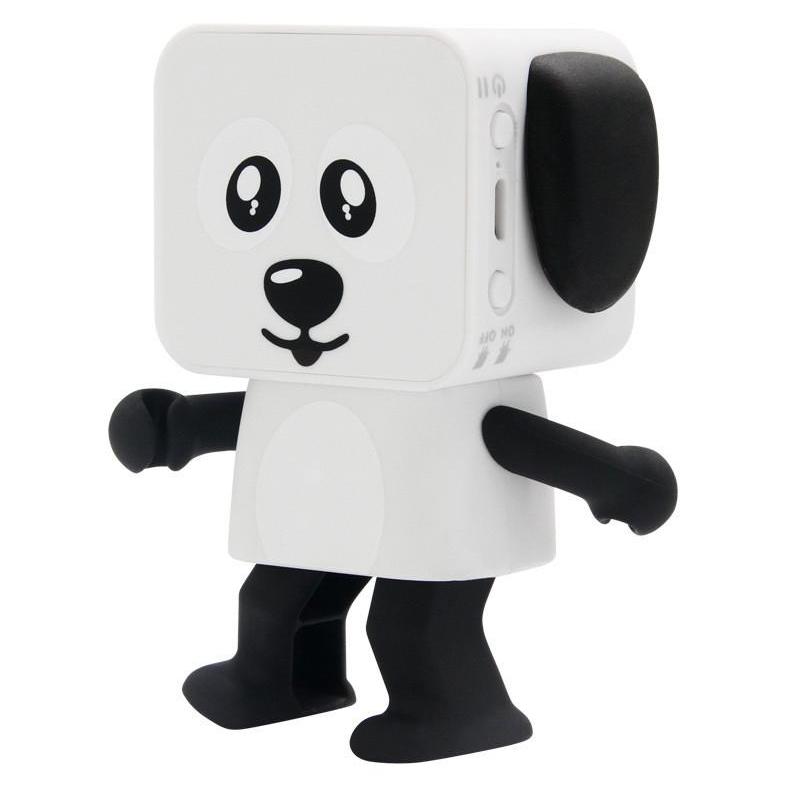 Mini Dancing Dog/Dansende Hund legetøj med Bluetooth højttaler Hvid / sort