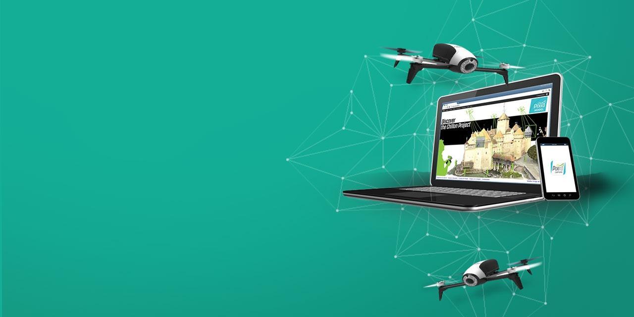 Parrot Bebop Pro 3D Modeling - Professionel drone med kamera til salg billigt online