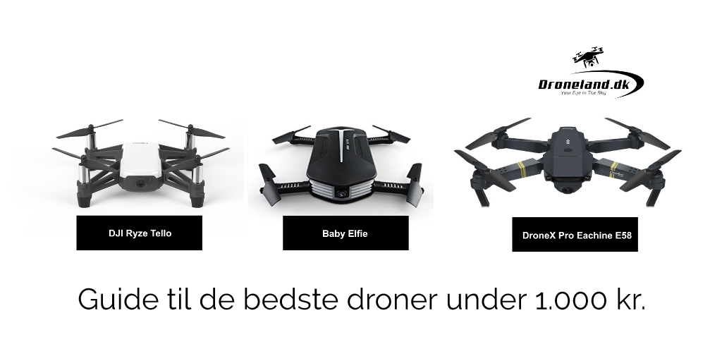De bedste droner med kamera under 1.000 kroner