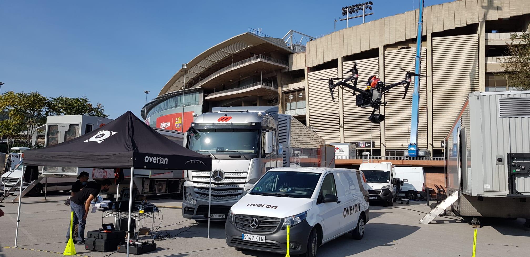 Live drone dækning af FC Barcelona Real Madrid El Classico