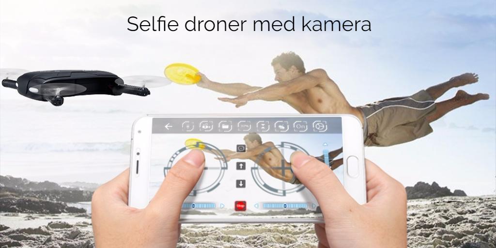 Selfie droner med kamera