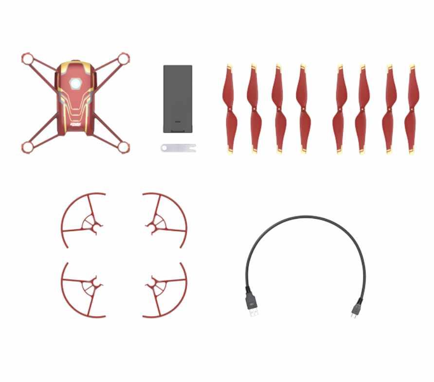 DJI Ryze Tello Iron Man Edition mini drone med kamera og tilbehør