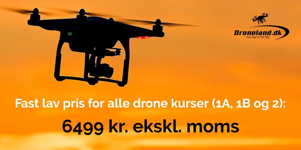 Dronebevis - Kursus - Bliv certificeret drone pilot