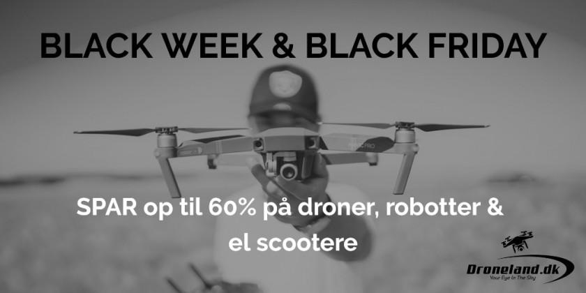 Black Friday priser & tilbud på de bedste droner hele november måned!