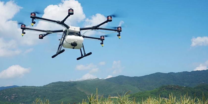 DJI sprøjte droner hjælper til i kampen mod Corona virus