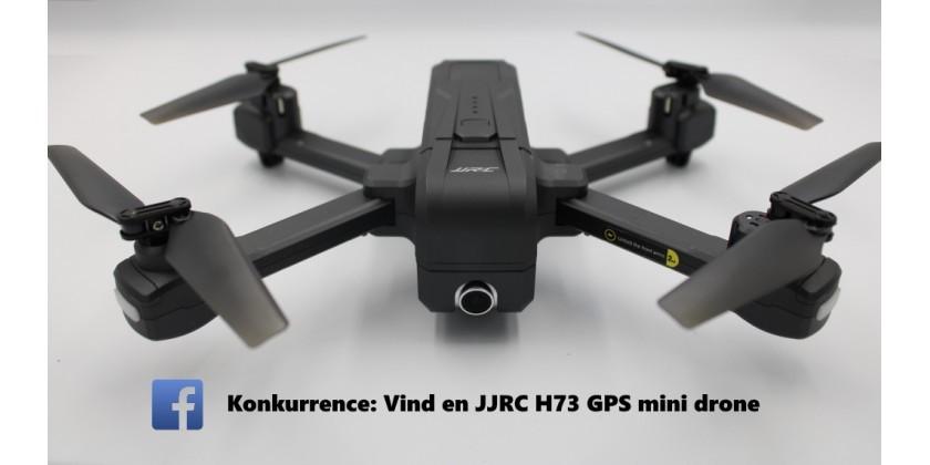 Drone konkurrence - Vind en JJRC H73 GPS mini drone med 2K kamera