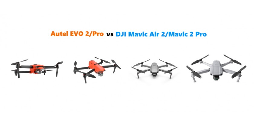 Compare Autel EVO 2 vs DJI Mavic 2 Pro vs DJI Mavic Air 2