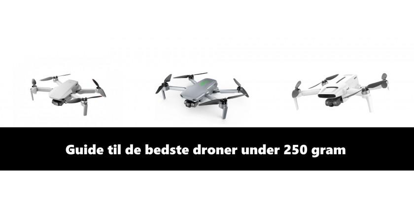 Sammenlign markedets bedste mini droner under 250 gram