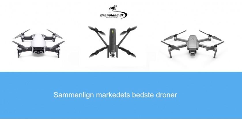 Sammenligning af DJI Mavic 2 Pro, Parrot Anafi & DJI Mavic Air