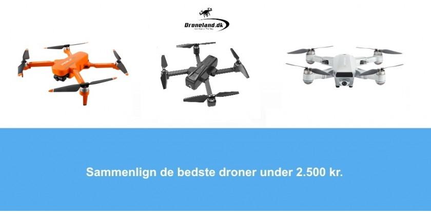 Sammelign de bedste droner under 2.500 kr.